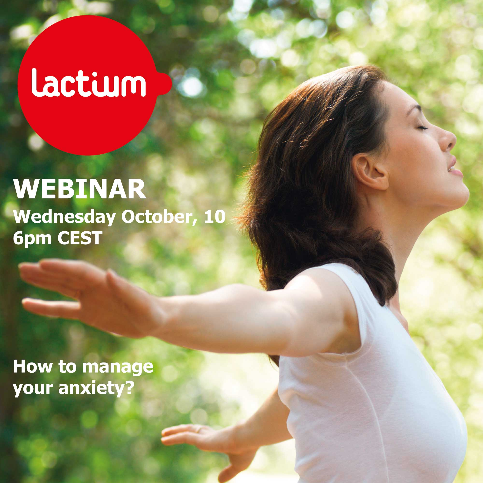 WEBINAR Lactium: how to manage anxiety?