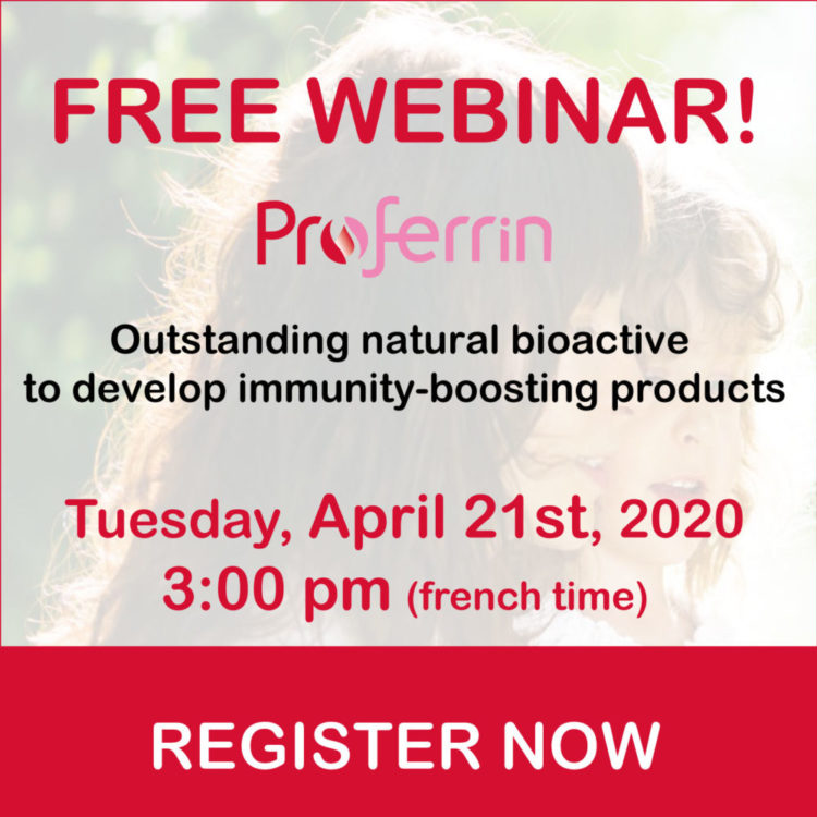 Webcast Proferrin, bioactive to develop immunity-boosting products