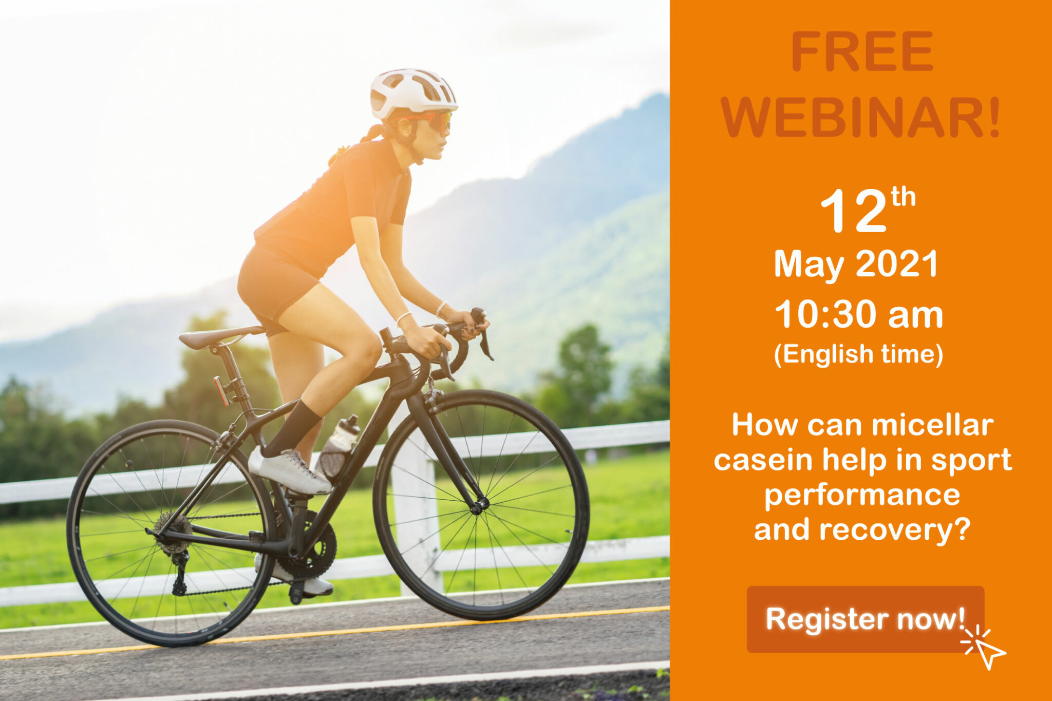 Webcast: how can micellar casein help in sport performance and recovery?